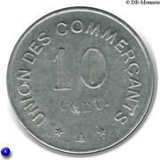 10 Centimes (Carcassonne) – reverse