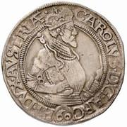 1 Guldenthaler - Karl II Franz von Innerösterreich (Klagenfurt) -  obverse