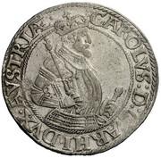 1 Thaler - Karl II Franz von Innerösterreich (Klagenfurt) – obverse