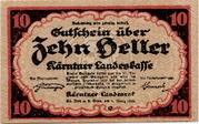 10 Heller (Kärnten) – obverse