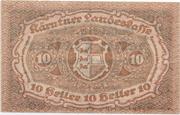 10 Heller (Kärnten) – reverse