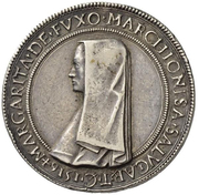 1 Tallero - Margherita di Foix – obverse