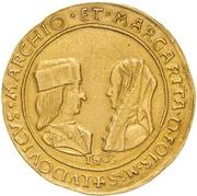 10 Scudi - Ludovico II and Margherita di Foix – obverse