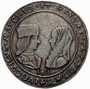 1 Tallero - Ludovico II and Margherita di Foix – obverse