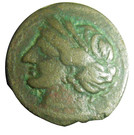 Æ Shekel (Carthage) – obverse
