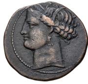Æ Shekel (Carthage; No Symbol) – obverse