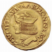 2 Ducat - Guglielmo IX Paleologo – obverse