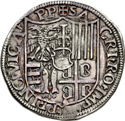 1 Testone - Guglielmo VII – reverse