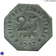 25 Centimes (Castelnaudary) – reverse