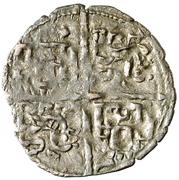 Dinero - Alfonso X (six lines;mark crescent) – reverse