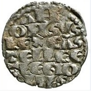 Dinero - Alfonso X six lines;mark annulets – obverse