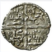 Dinero - Alfonso X six lines;mark annulets – reverse