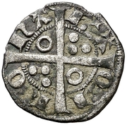 Dinero - Alfonso III – reverse