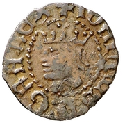 Dinero - Juan II (Girona) – obverse