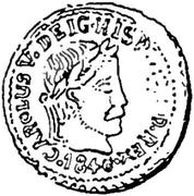 ½ Peseta - Carlos V (pretender,Berga) – obverse