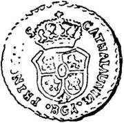 ½ Peseta - Carlos V (pretender,Berga) – reverse