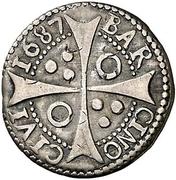 Croat - Carlos II (bust variant) – reverse