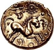 Gold Stater (Trinovantian M; Tasciovanus 1st coinage) – reverse