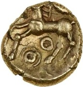 Gold ¼ Stater (Atrebatic C; Commius) – reverse