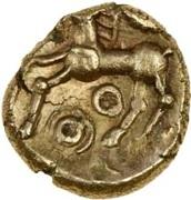 Gold ¼ Stater (Atrebatic C; Commius) – reverse