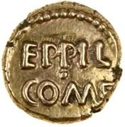 Gold ¼ Stater (Atrebatic H; Eppillus) – obverse