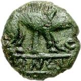 Bronze Unit (Cantian L; Dubnovellaunus) – obverse