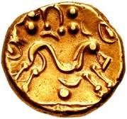 Gold Stater (Gallo-Belgic E) – reverse