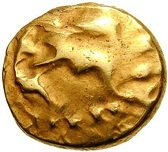 Gold ¼ Stater (Gallo-Belgic D) – obverse
