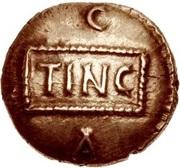 Gold ¼ Stater (Atrebatic E; Tincomarus) – obverse