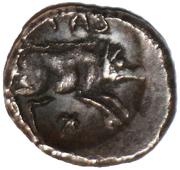 Silver Unit (Trinovantian O; Tasciovanus 3rd coinage) – reverse