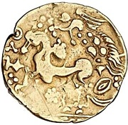 Gold Stater (Gallo-Belgic A) – reverse