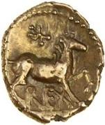 Gold ¼ Stater (Atrebatic J; Verica) – reverse