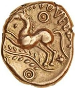 Gold Stater (Trinovantian L; Dubnovellaunus) – reverse
