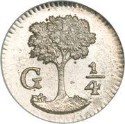 ¼ Real (Guatemala) – reverse