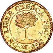 ½ Escudo (Guatemala) – reverse