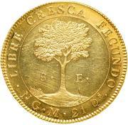 8 Escudos (Guatemala) – reverse