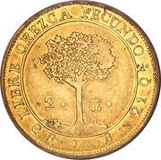 2 Escudos (Costa Rica) – reverse