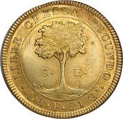 8 Escudos (Costa Rica) – reverse