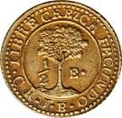 ½ Escudo (Costa Rica) – reverse