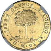 4 Escudos (Guatemala) – reverse
