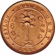 ½ Cent - George V -  reverse