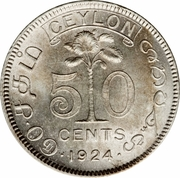 50 Cents - George V – reverse