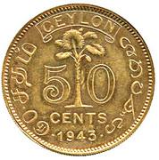 50 Cents - George VI (Trial Strike) – reverse