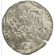 Dirham - temp. Chapar bin Kaidu - under Kaidu bin Kashin (tamgha countermark) – reverse