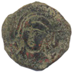 "Fals - ""Bukhara copper coin""- Unknown ruler - 632-790 AD (Eastern Sogdiana) – obverse"