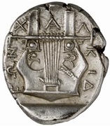 Tetradrachm (Olynthos) – reverse