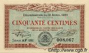 50 Centimes - Chambre de Commerce de Chambéry [73] – obverse