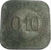 10 Centimes (Charleville) – reverse