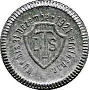 1 Mark - Charlottenburg  (Deutsche Ton & Steinzeugwerke AG) – reverse