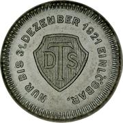 3 Mark - Charlottenburg (Deutsche Ton & Steinzeugwerke A. G.) – reverse